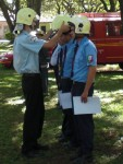Feuerwehrvereidigung in Altos Paraguay